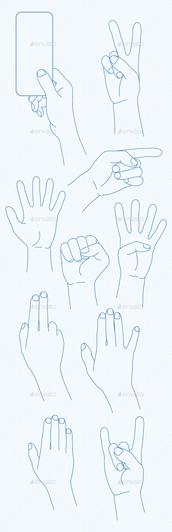 GraphicRiver Hands Icons 10936034