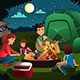 Family Camping in the Forest - GraphicRiver Item for Sale