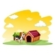 Puppy Outside the pethouse - GraphicRiver Item for Sale