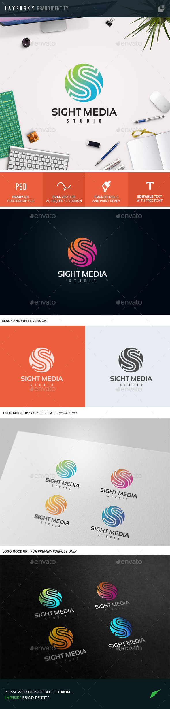 GraphicRiver S Letter Logo Sight Media 10936327