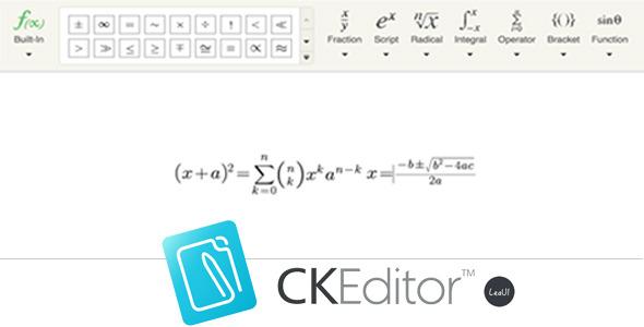 CodeCanyon CKEditor4 Formula Editor 10936362