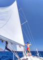 Cheerful man on sailboat - PhotoDune Item for Sale