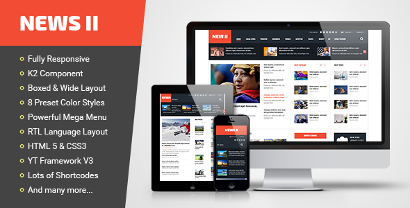 ThemeForest News II Responsive News Magazine Joomla Template 10854644