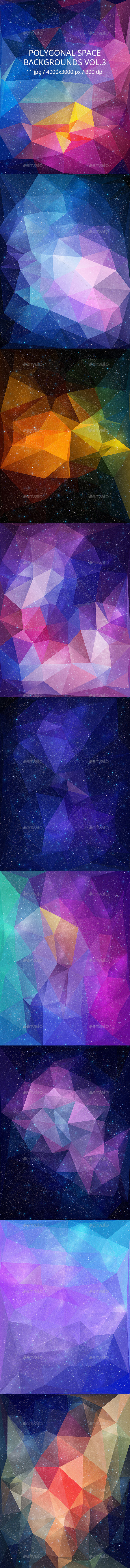 GraphicRiver Polygonal Space Backgrounds Vol.3 10936737