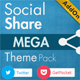 Social Share Mega Theme Pack - WordPress