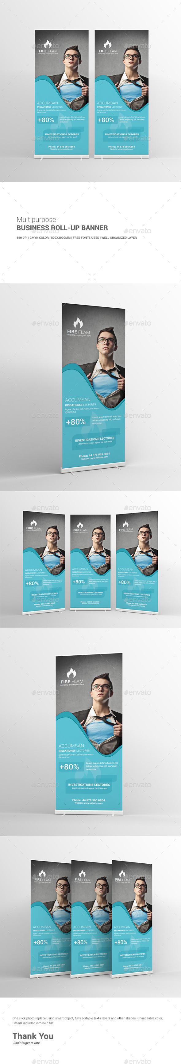 GraphicRiver Multipurpose Business Roll-Up Banner 10936827
