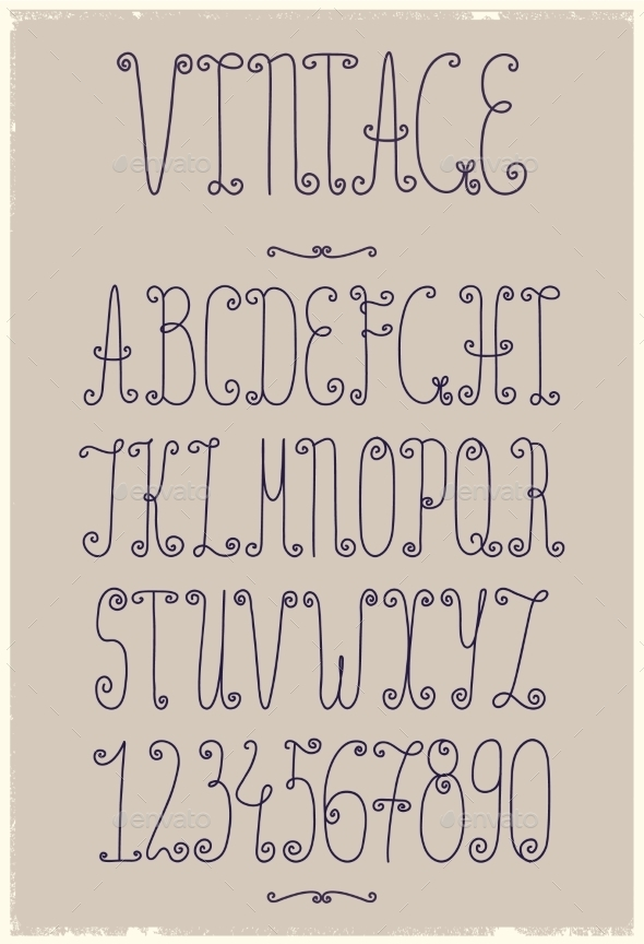 GraphicRiver Vintage Handwriting Font 10936914
