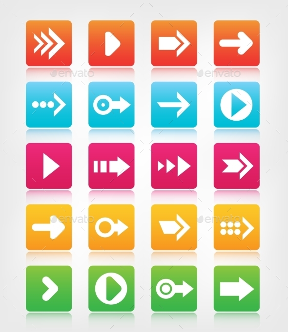 GraphicRiver Set of Arrow Navigation Buttons 10936918