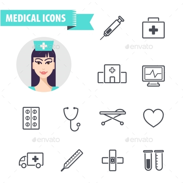 GraphicRiver Set of Medical Icons 10936934