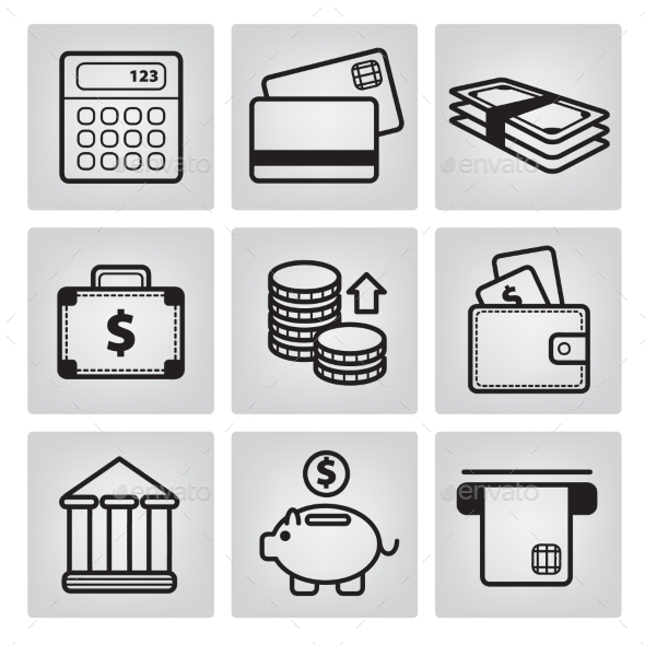 GraphicRiver Money Icons 10936941