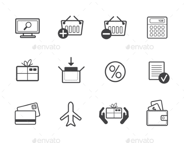 GraphicRiver Set of Shopping Icons 10936960