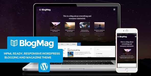 ThemeForest BlogMag Blogging and Magazine WordPress theme 10936995
