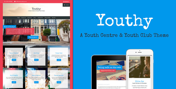 ThemeForest Youthy A Youth Centre & Youth Club Theme 10937111