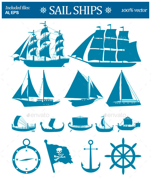 GraphicRiver Sail Ships 10937178