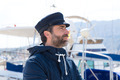 Sailor in marina port with boats background - PhotoDune Item for Sale
