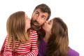 Happy family beard father and two daughters - PhotoDune Item for Sale
