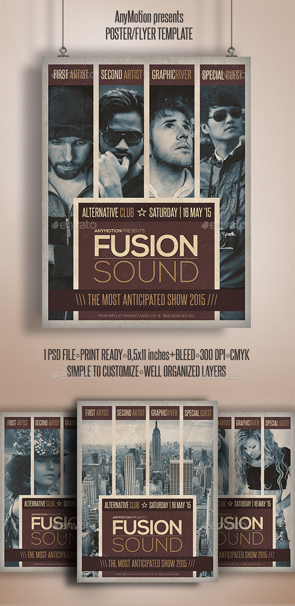 GraphicRiver Fusion Sound Flyer Template 10937624