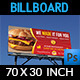Burger Restaurant Billboard Template Vol.5 - GraphicRiver Item for Sale