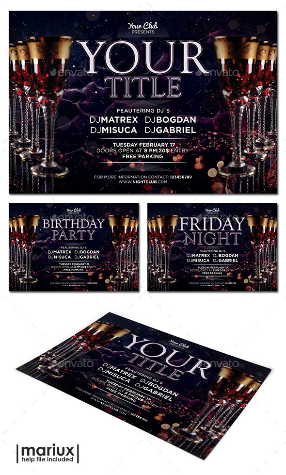 GraphicRiver Elegant Party Flyer 10937795