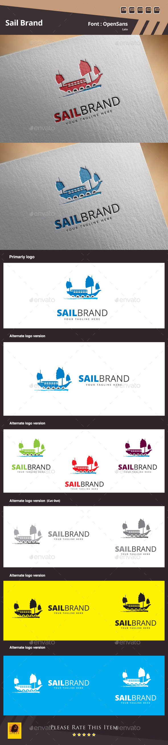 GraphicRiver Sail Brand Logo Template 10937809