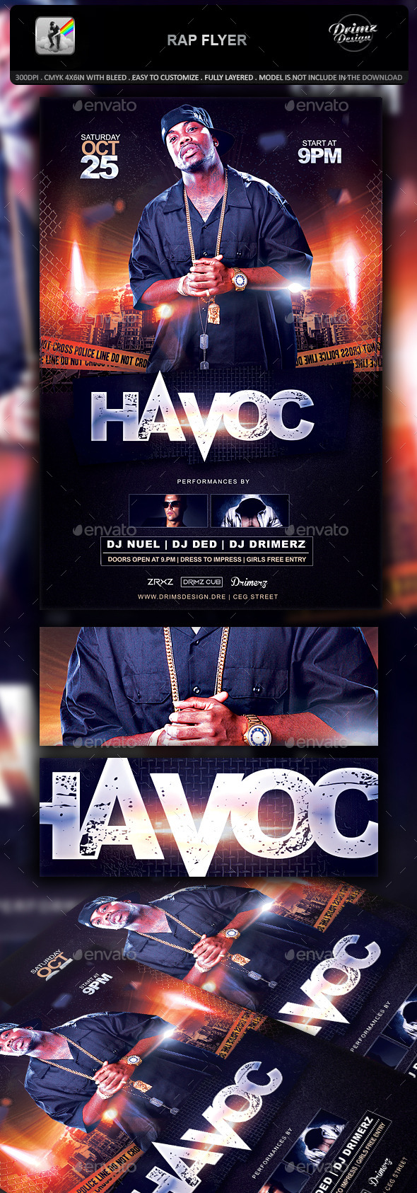 GraphicRiver Rap Flyer 10937815
