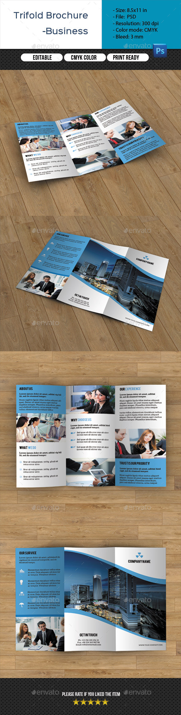 GraphicRiver Corporate Trifold Brochure-V229 10937816