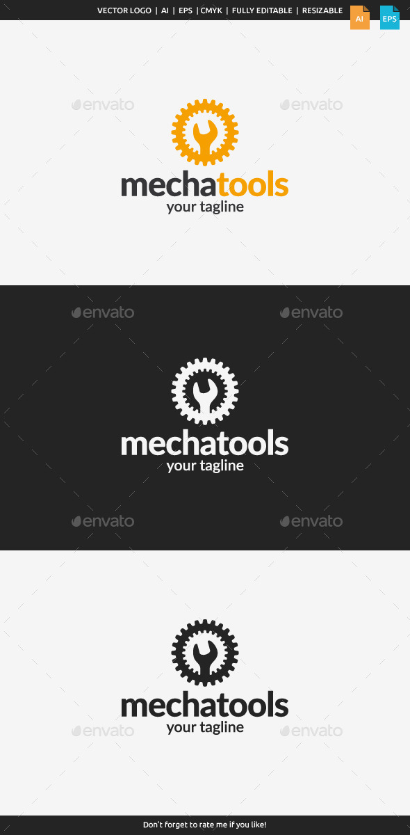 GraphicRiver Mecha Tools Logo 10937928