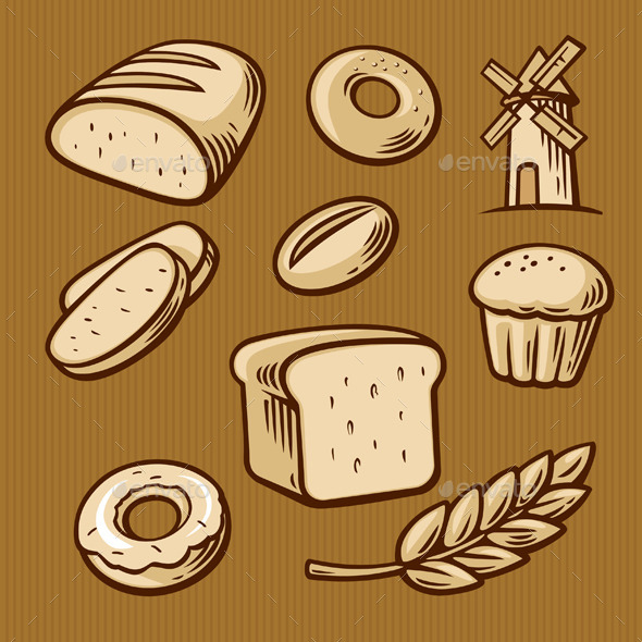 GraphicRiver Bread and Cooking 10937975
