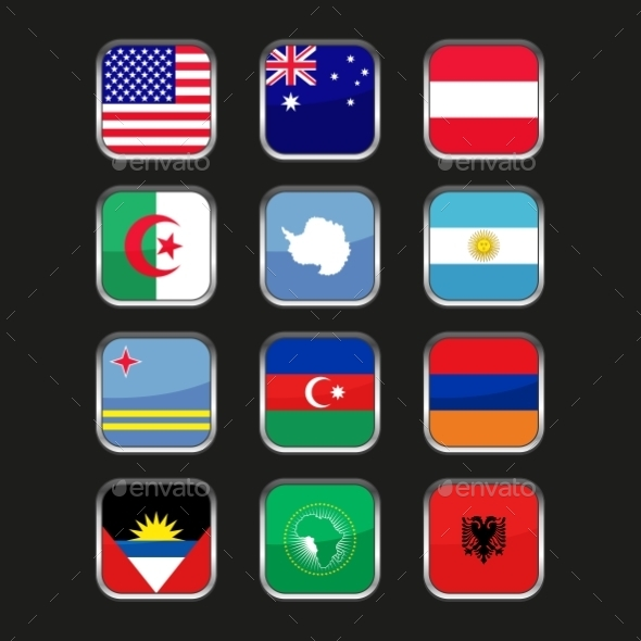 World Flags Icons Set