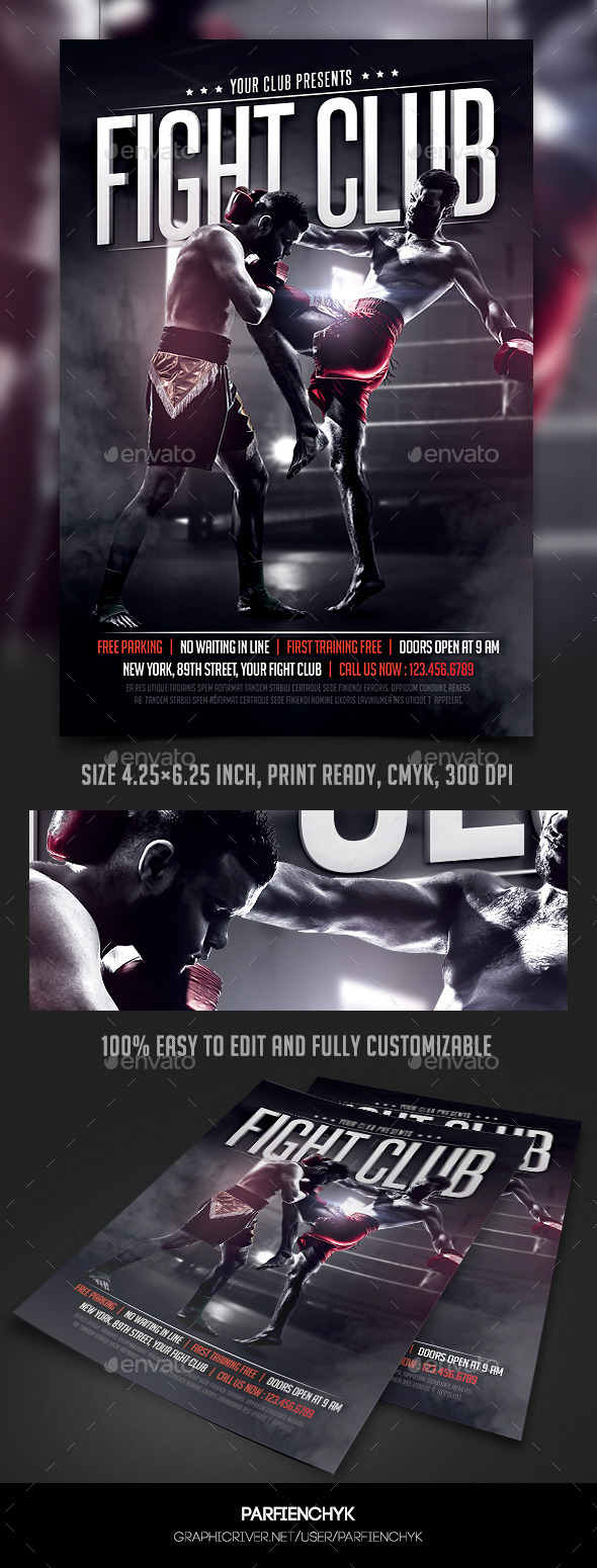 GraphicRiver Fight Club Flyer Template 10938021