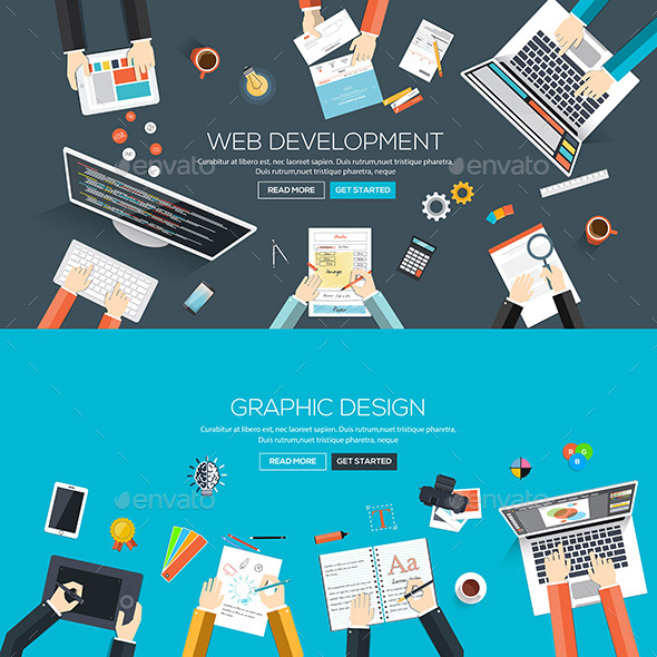 GraphicRiver Flat Designed Banners 10938250