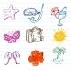 Summer Doodles - GraphicRiver Item for Sale