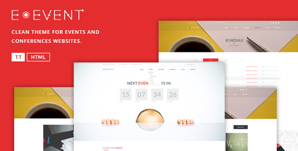 ThemeForest E-Event Elegant HTML Template For Events 10938358