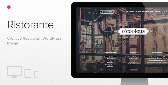 ThemeForest Ristorante Creative Restaurant WordPress Theme 10938428