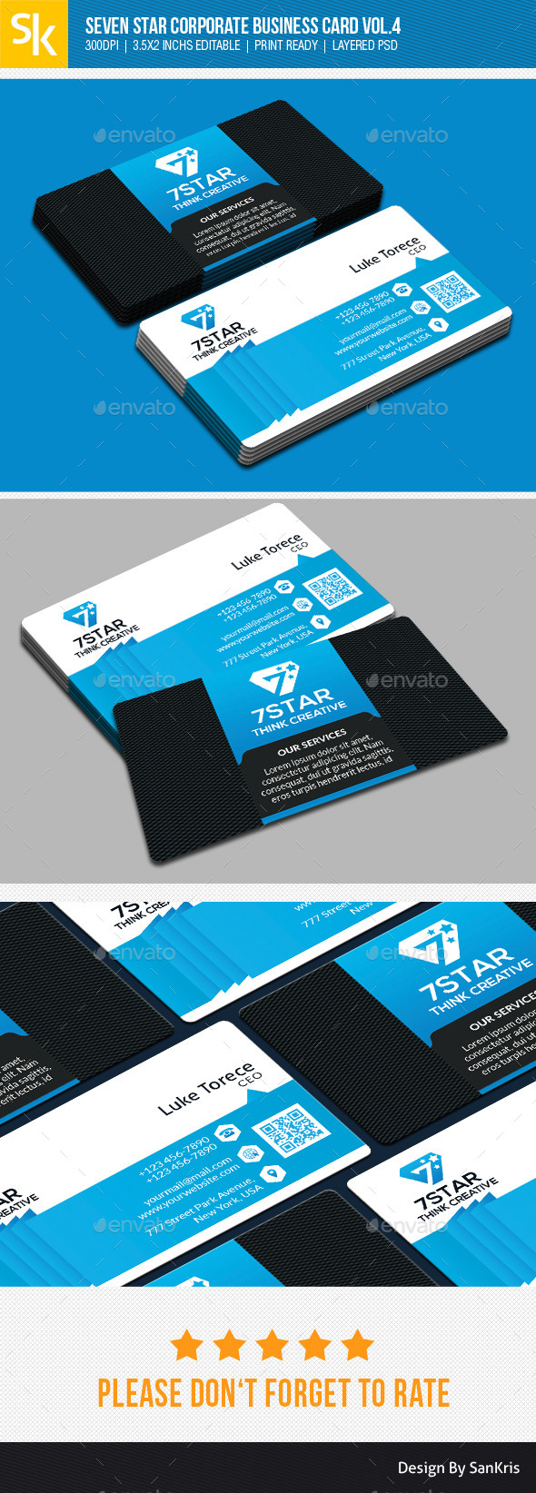 GraphicRiver Seven Star Corporate Business Card Vol.4 10871808