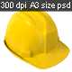 Yellow Safety Helmet on Transparent Background - GraphicRiver Item for Sale
