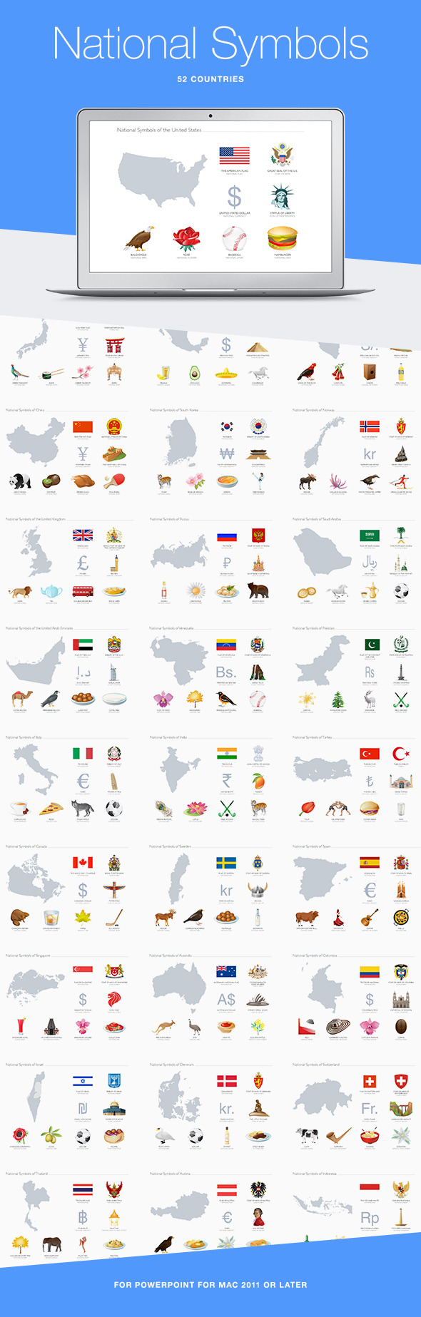 GraphicRiver National Symbols for PowerPoint 10938491