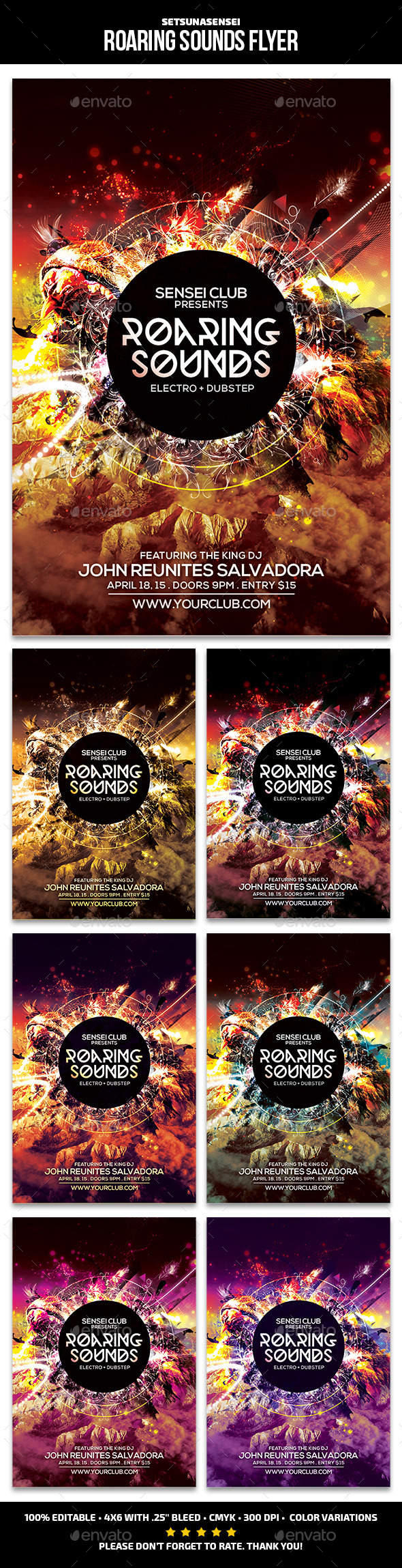 GraphicRiver Roaring Sounds Flyer 10938529