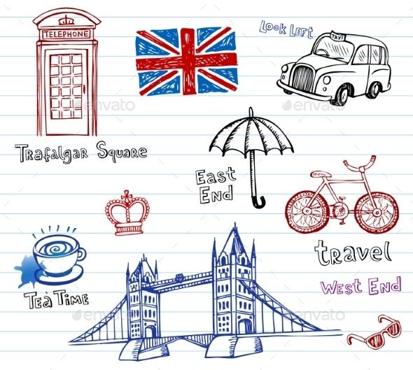 GraphicRiver London Doodles 10938546
