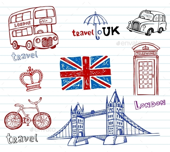 GraphicRiver London Doodles 10938550
