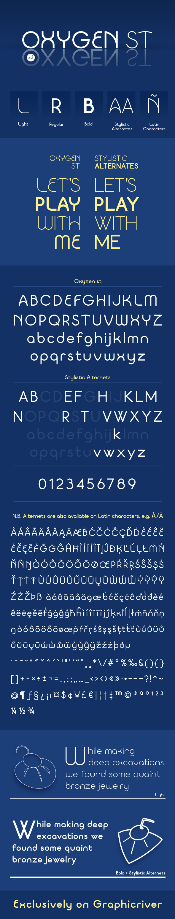 GraphicRiver Oxygen st typeface 10938562