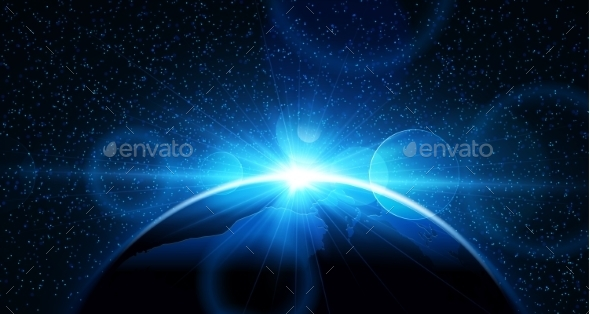 GraphicRiver Planet Earth with Sunrise 10938575