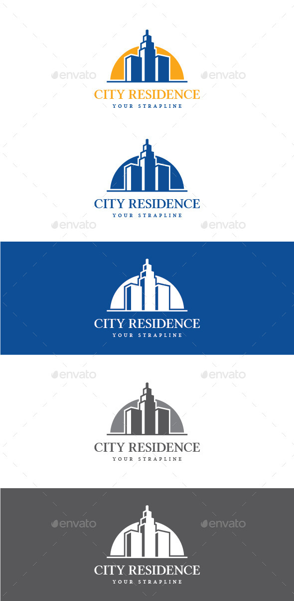 GraphicRiver City Residence Logo 10938601