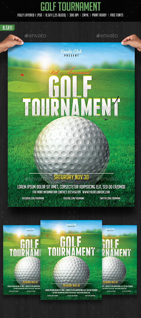 Golf Tournament Flyer - Sports Events