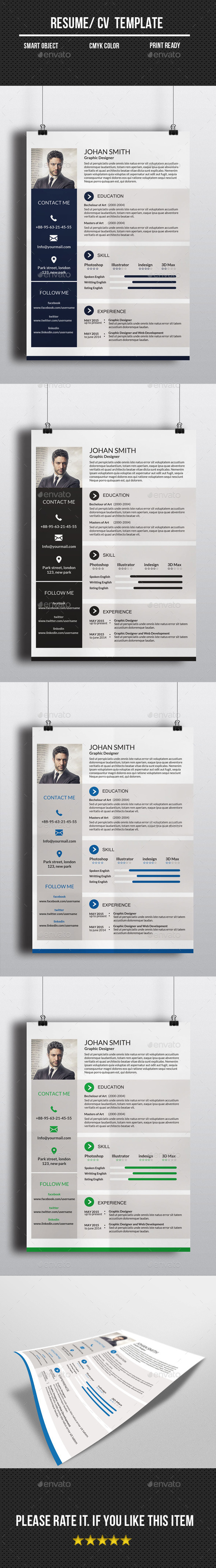GraphicRiver One Page Resume CV 10938618