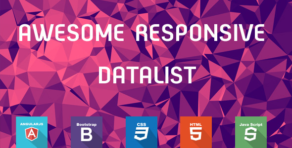 CodeCanyon AngularJS Data List & Data Table 10931651