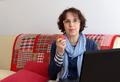 a senior woman eating an apple - PhotoDune Item for Sale