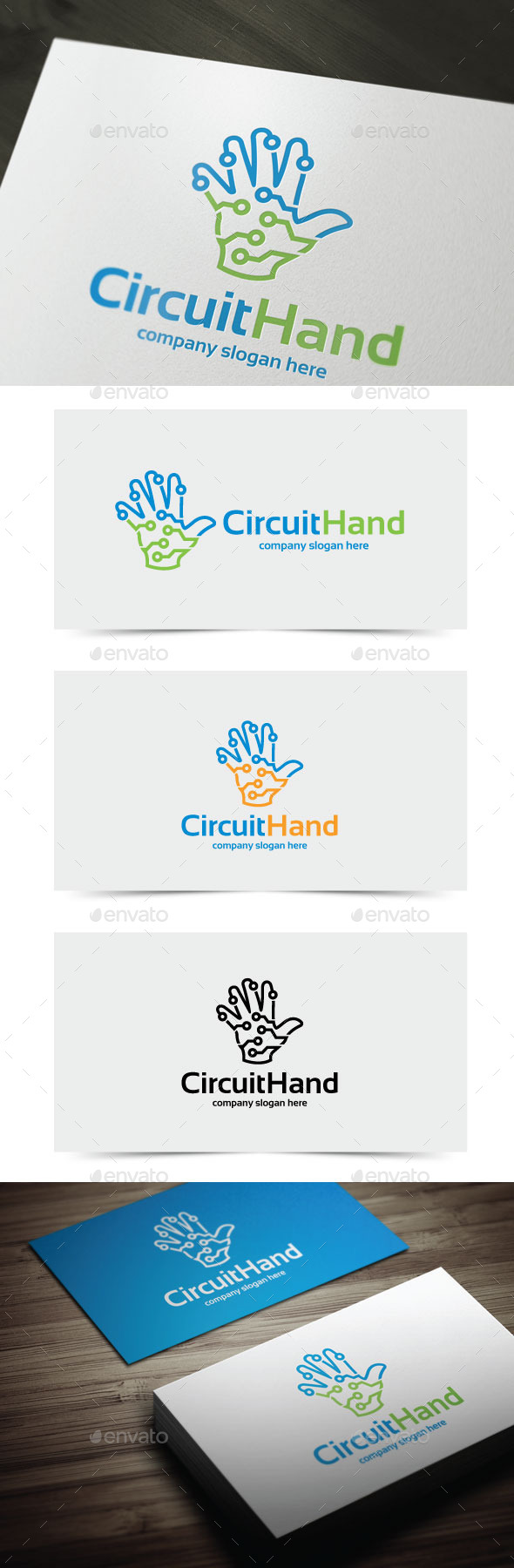 GraphicRiver Circuit Hand 10939061