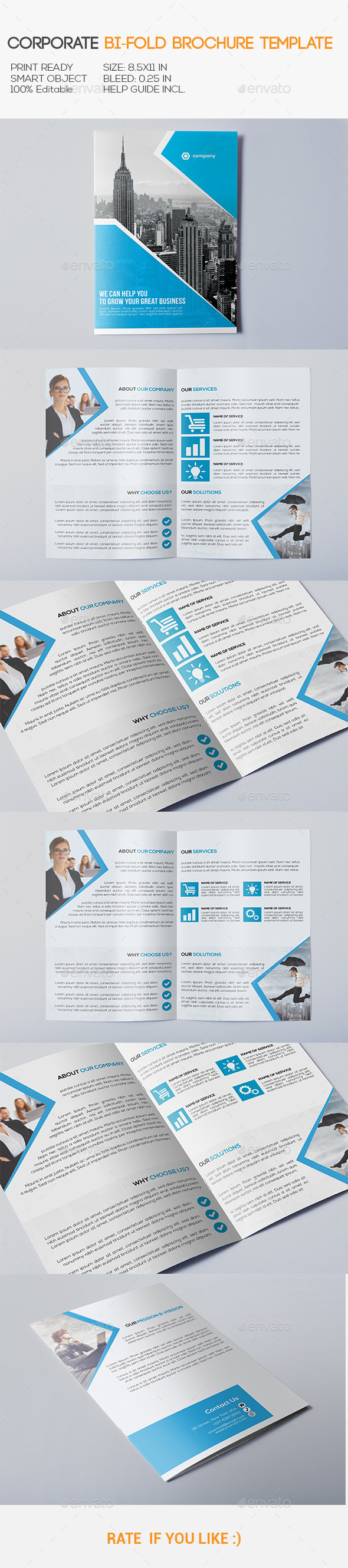 GraphicRiver Corporate Bi-Fold Brochure 10939257