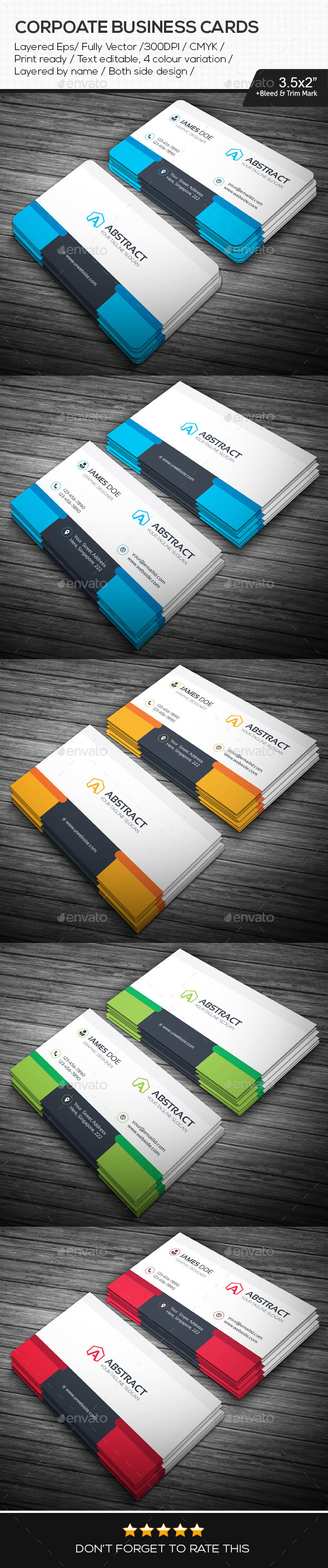 GraphicRiver Abstract Corporate Business Cards 10939258